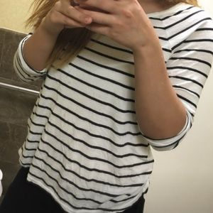 H&M striped long sleeve worn once szM fits S-M